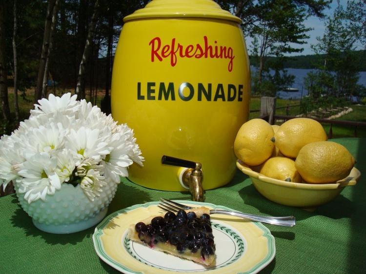 blueberry and lemon tart