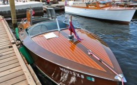 classic wooden boat
