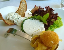Goat Cheese Three Ways with Pickled Apple and Onions