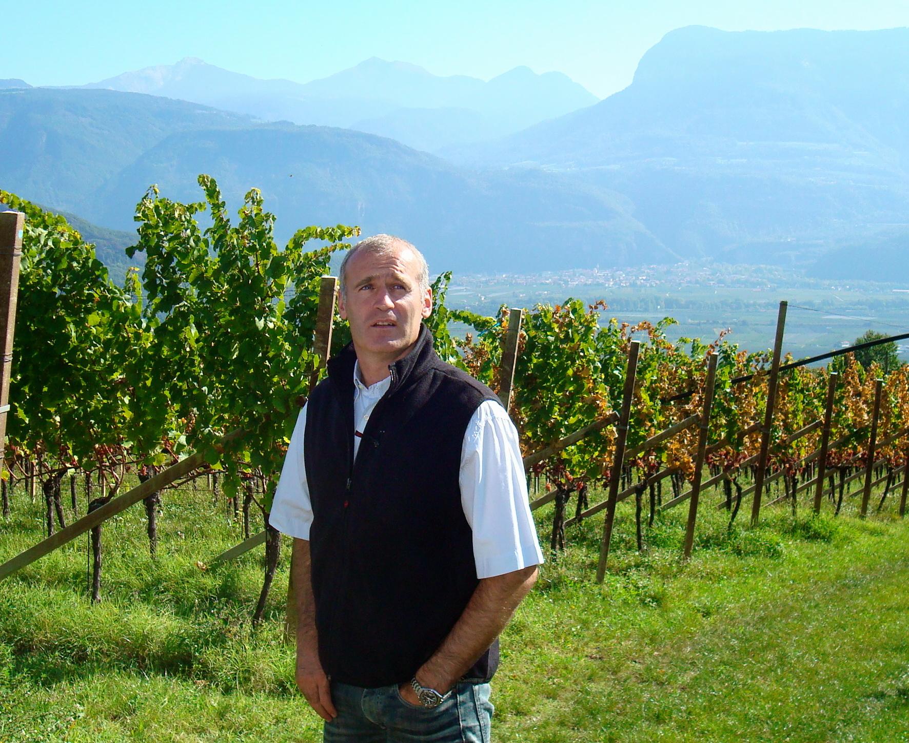 Willi Sturz in tramin vineyard