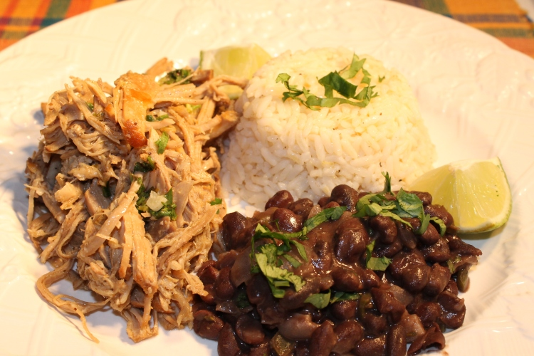 My Version Of Cuban Pork With Black Beans And Rice