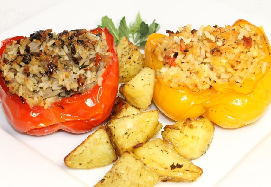 Mediterranean Stuffed Peppers
