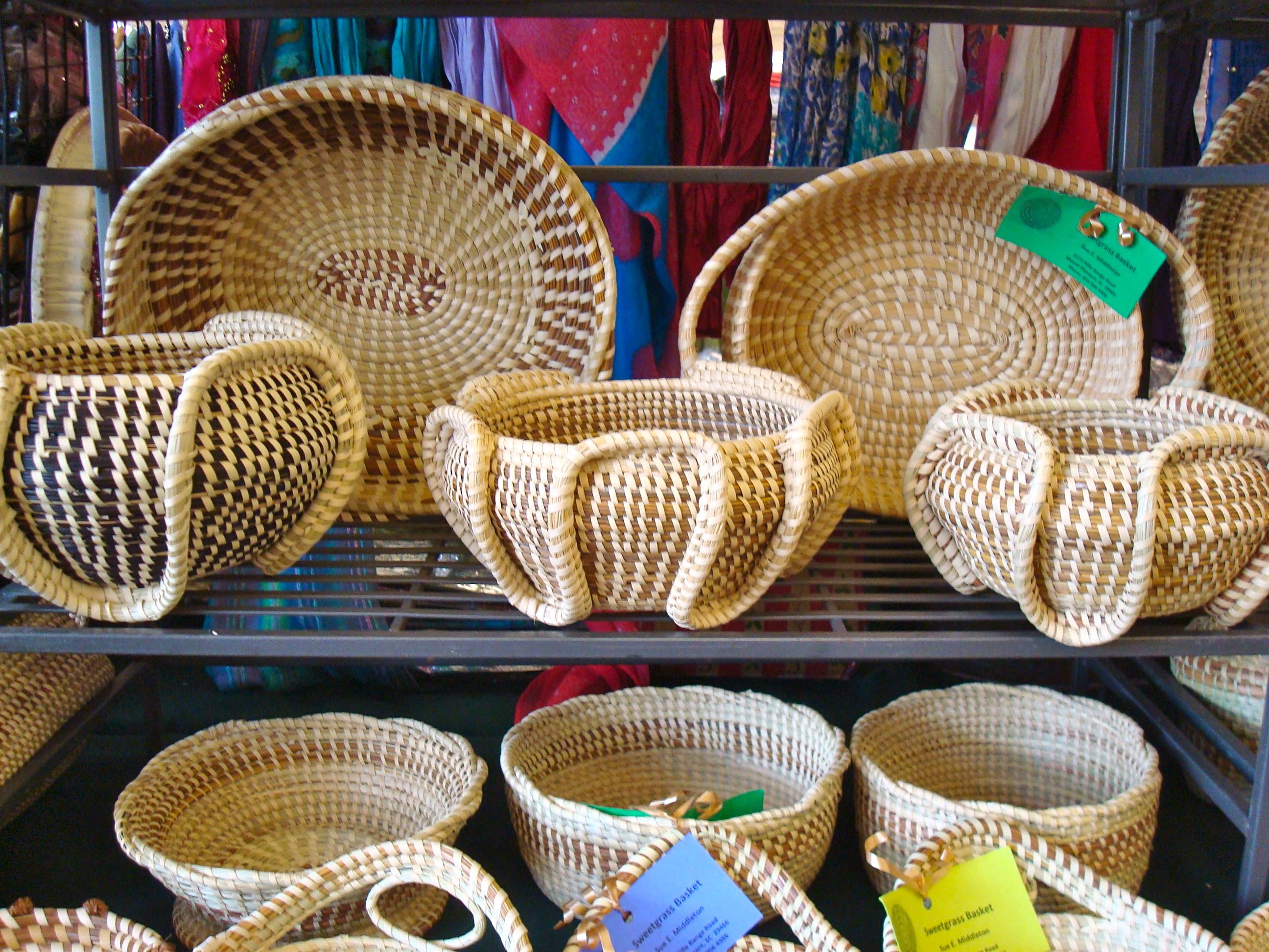 Handmade Baskets In Charleston : Historic charleston revisited back road journal