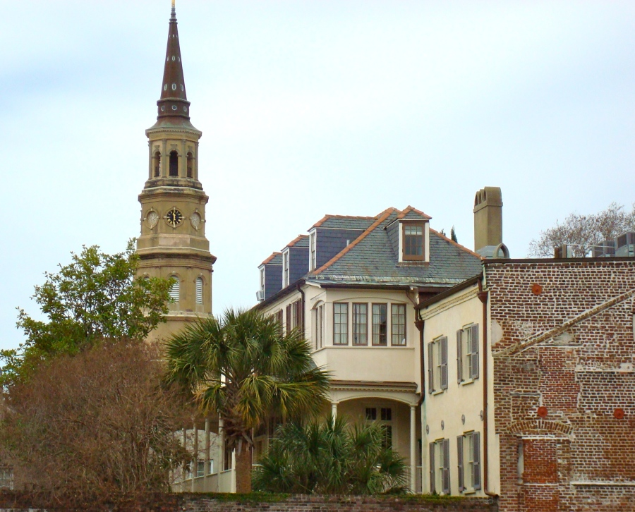 Historic Charleston, North Caroline With One Of Its Many Steeples