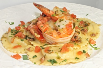My Seafood Agnolotti With Shrimp