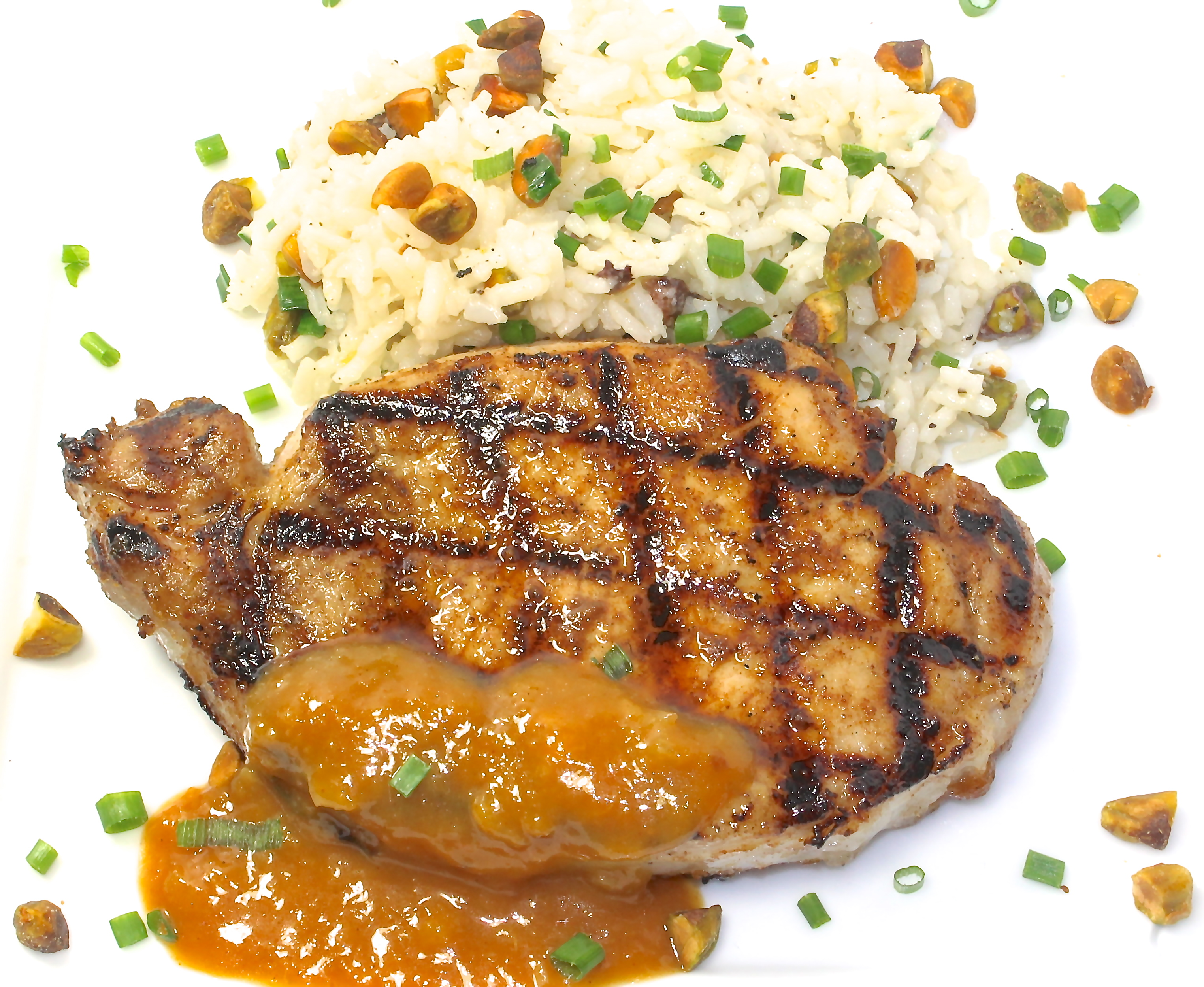 Grilled Pork Chops With An Orange Ginger Sauce | Back Road ...