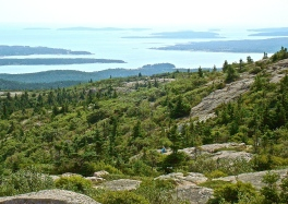 View Of Offshore Islands From Acadia National Park