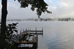 Steam Rising Off Long Lake