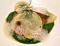 Fillet of Char With Creamed Spinach And Ravioli