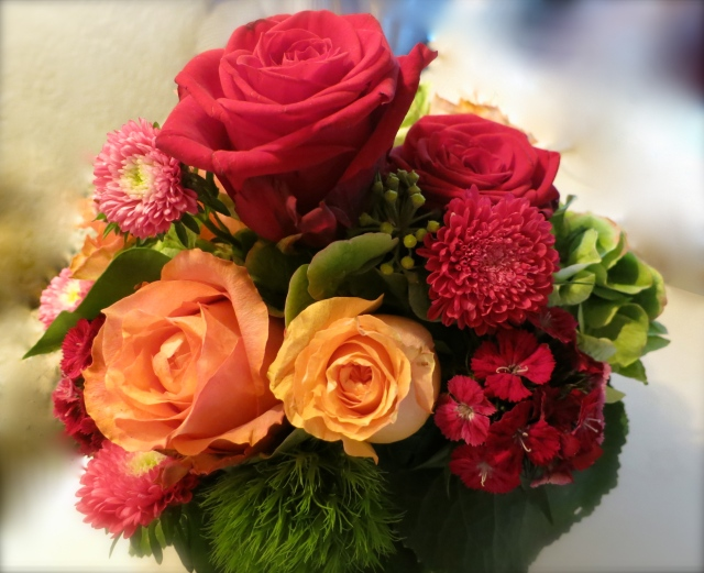 Colorful Fresh Flowers At Each Table Added Warmth To Each Table