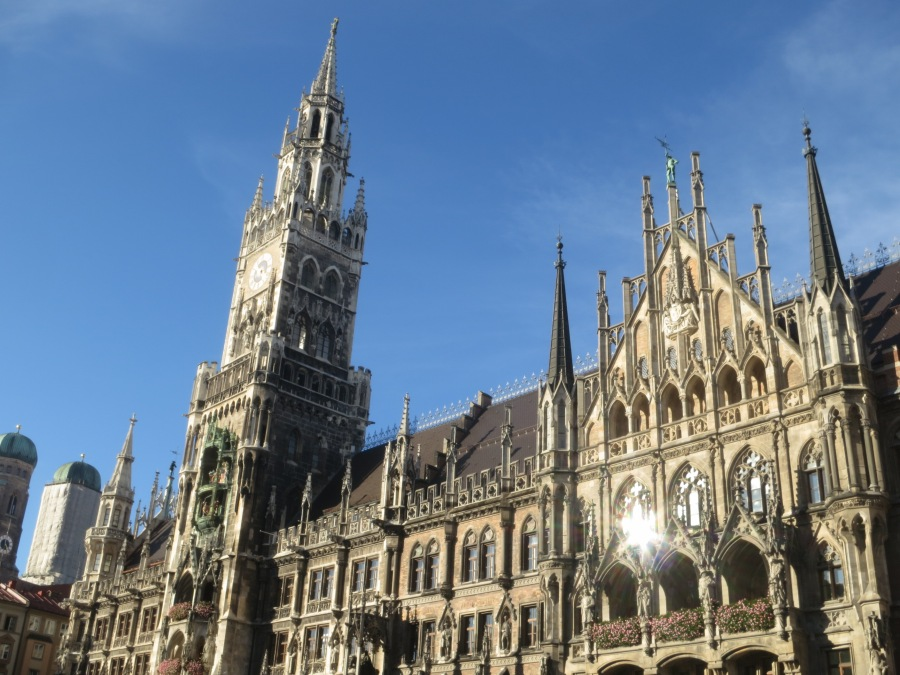 The New Town Hall Dominates The Marienplatz