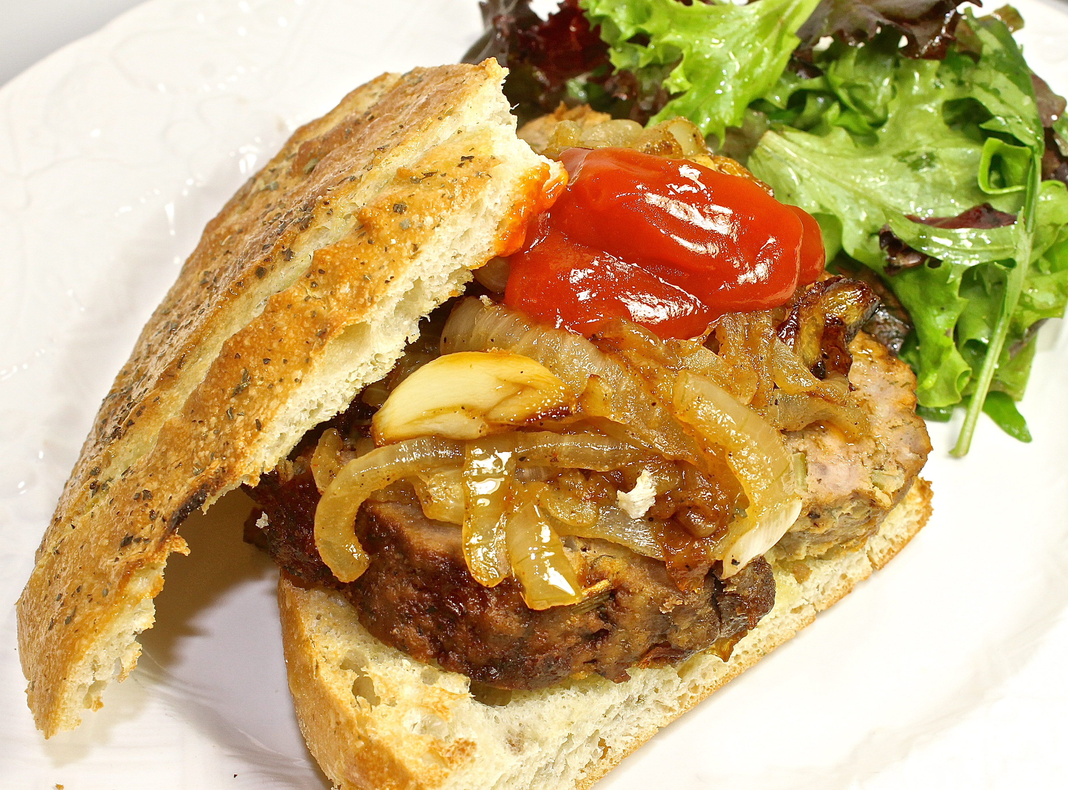 terrific better homes and gardens meatloaf. Meatloaf Sandwich On Herbed Foccacia With Caramelized Onions And Truffled  Ketchup Is There Such A Thing As Gourmet Back Road