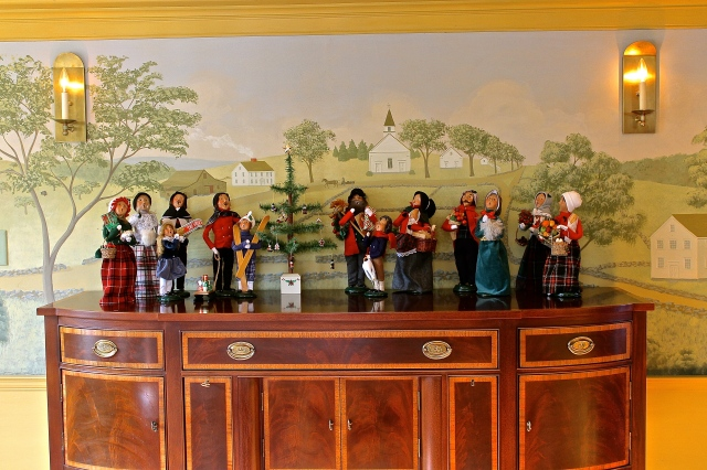 Christmas Carolers On Hepplewhite Sideboard