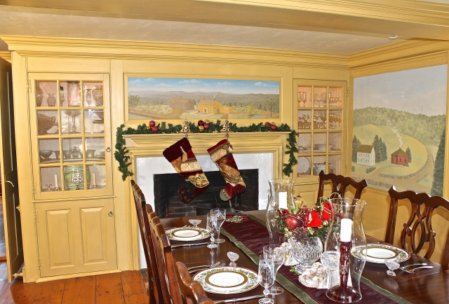Our Dining Room Decorated For Christmas
