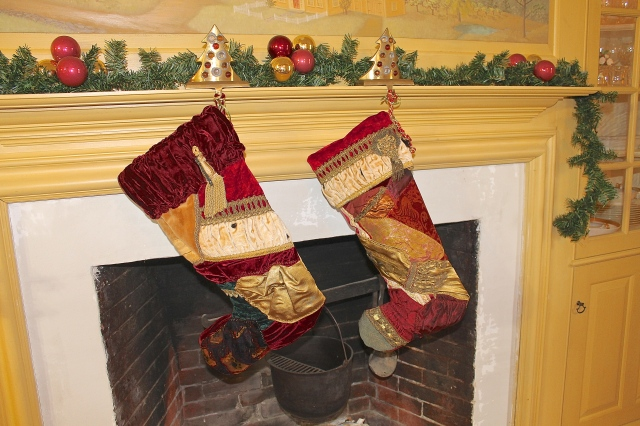 Christmas Stockings From Antique Fabrics