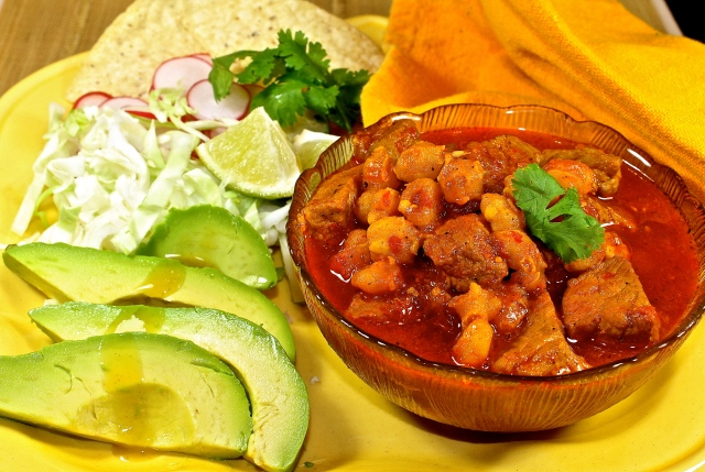 Pozole Roja...Pork And Hominy Stew