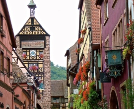 Colorful Alsatian Village