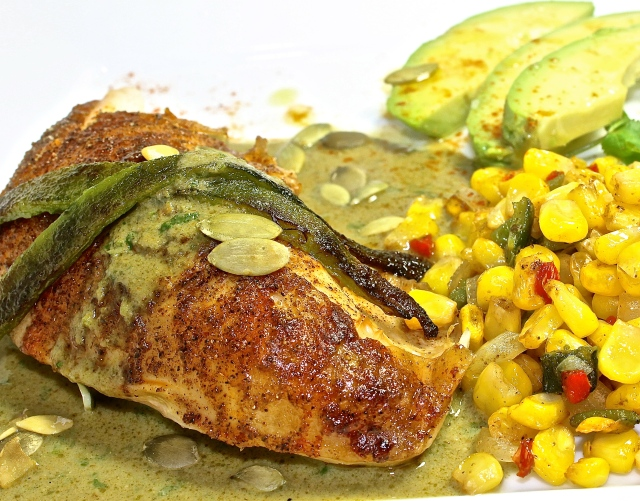Chicken With Green Mole