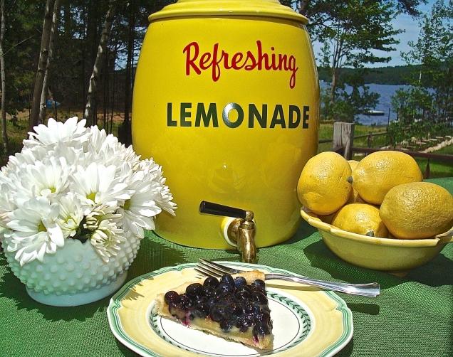 Blueberry And Lemon Curd Tart On The Gazebo