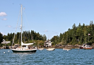 Sailboats At Moorings