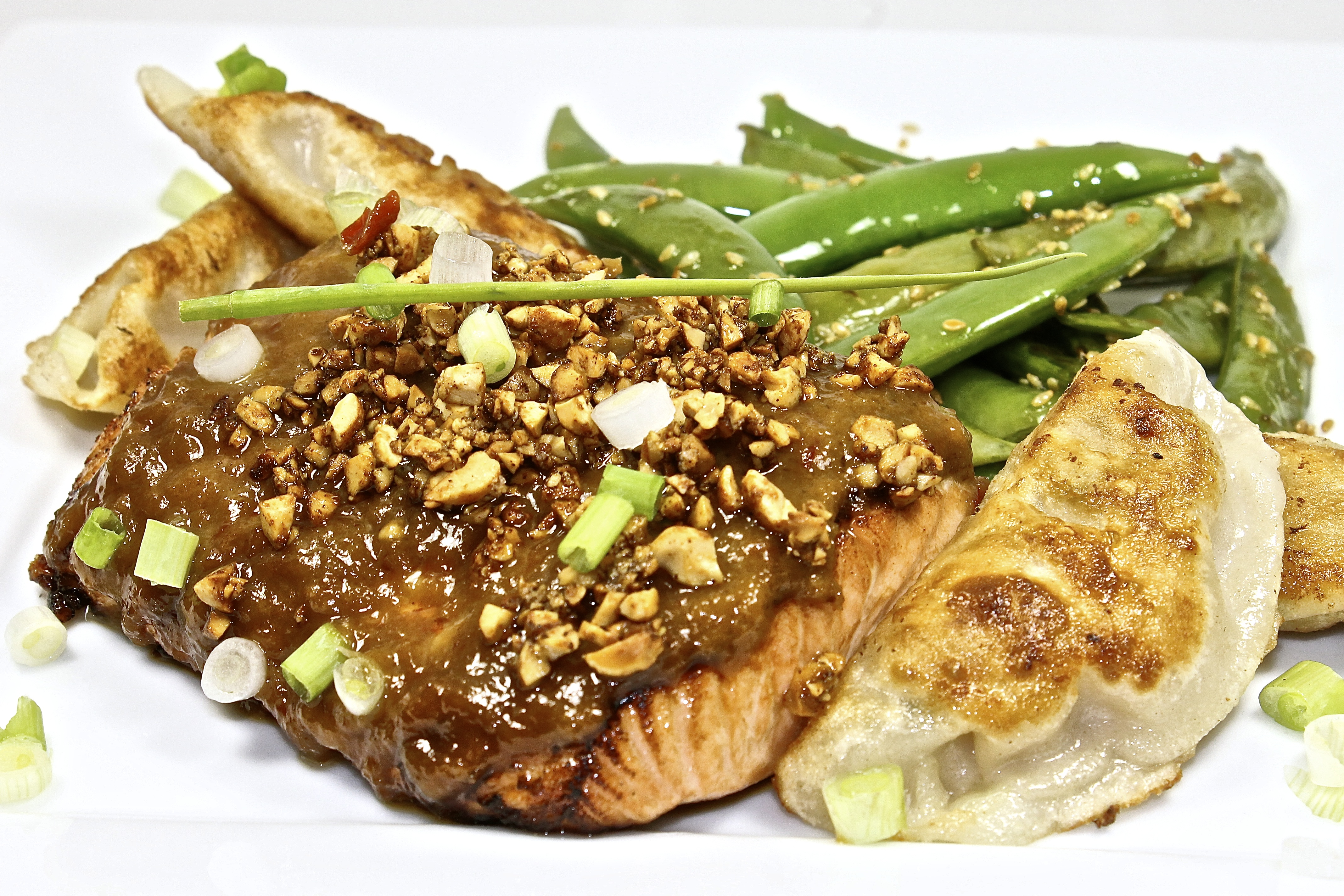 Salmon With Crunchy Peanut Ginger Sauce Back Road Journal