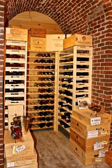 The Wine Cellar Racks Hold More Than Three Hundred Bottles