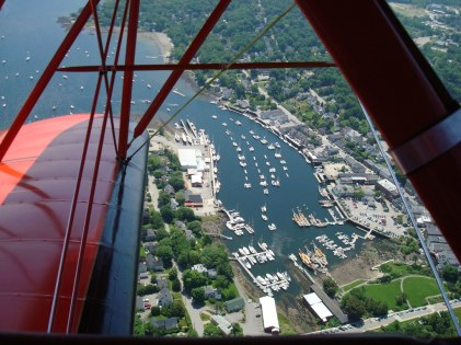 View Of Harbor From A Biplane