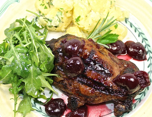 Grilled Duck With Sweet Cherry Sauce