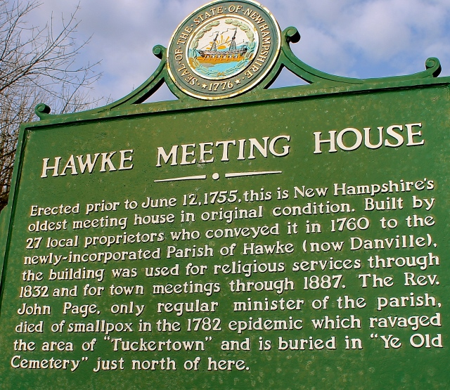 Hawke Meet House Plaque