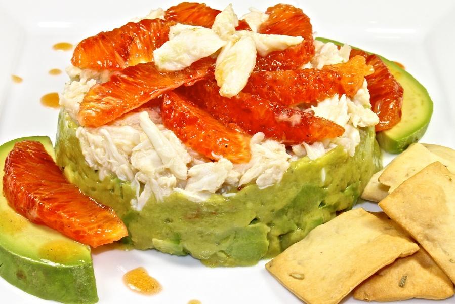 crab avocado and citrus salad