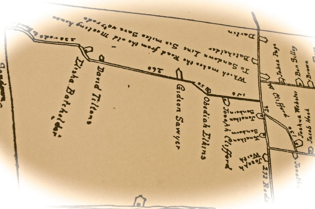 Copy Of Hand Drawn Map  From The 1700's That Shows Our Home...A That Time Owned by Gideon Sawyer