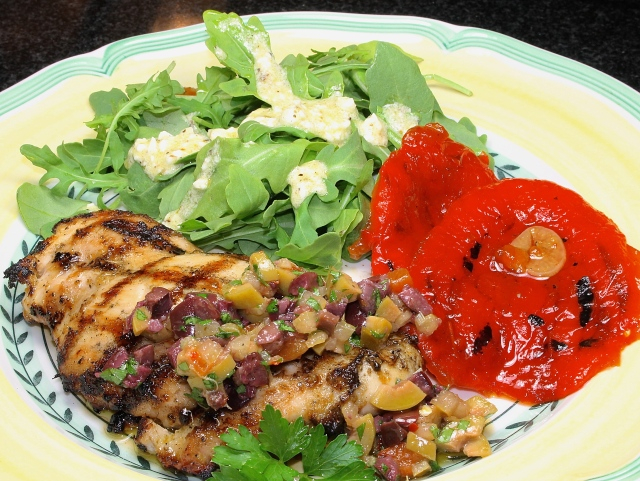 Grilled Chicken With Preserved Lemon Tapenade