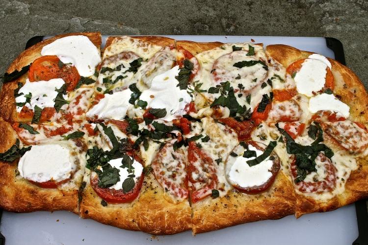 Homemade Caprese Pizza