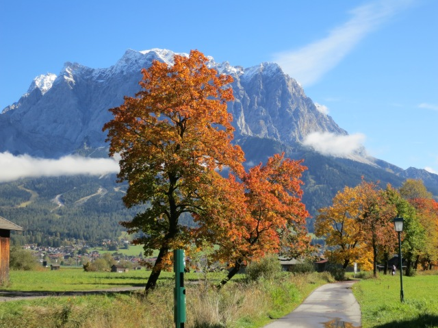 View Of The Zugspitze From Lermoos, Austria
