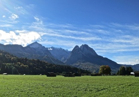 View Of The Zugspitze From Garmisch-Partenkirchen