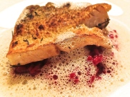 Crispy Pike Perch With Beetroot Risotto And Riesling Sauce