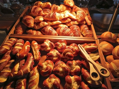 Part Of The Bread And Pastry Selection