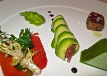 Several Styles Of Tuna With Avocado And Basil
