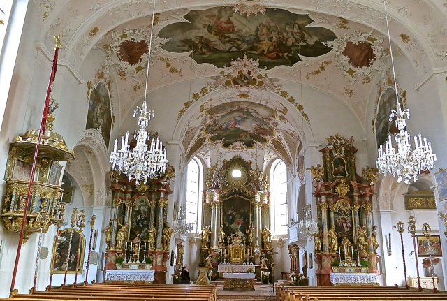 The Elaborately Decorated St. Peter and St. Paul Parish Church Of Mittenwald