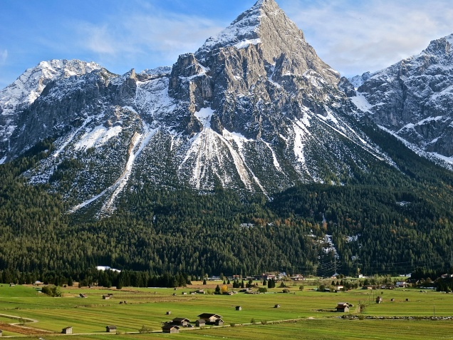 The Austrian Side Of The Zugspitze