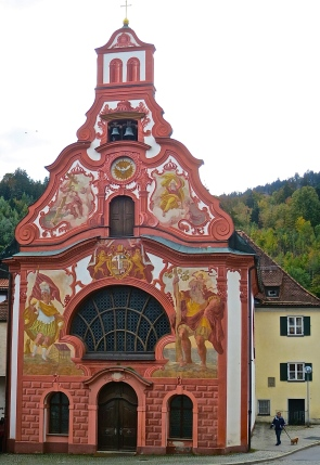 Beautifully Painted Church In Fussen