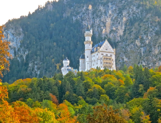 Neuschwanstein Castle In The Fall