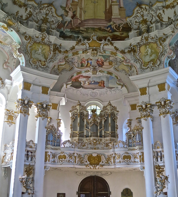 The Organ Of The Wies Church Above The Entrance Of The Church