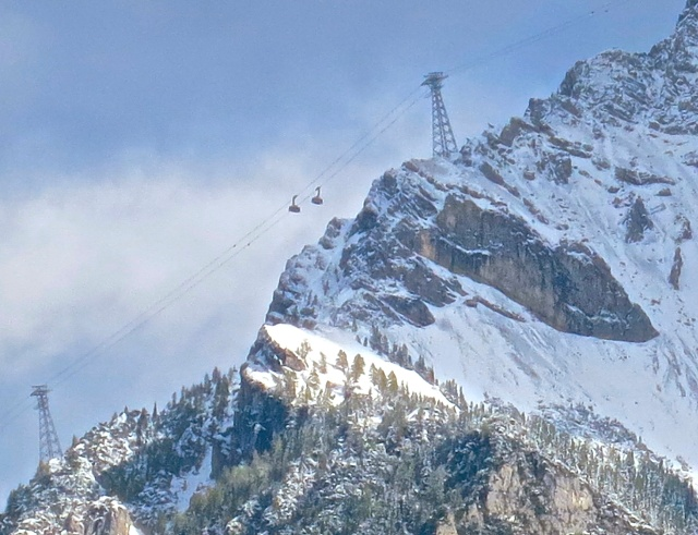 Cable Cars On The Austrian Side Of The Zugspitze
