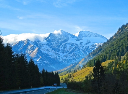 Driving Into The Hohe Tauern National Park