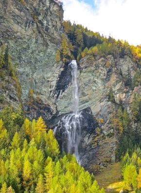 Beautiful Waterfall In The Hohe Tauern National Park