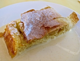 Warm Cheese Strudel With Vanilla Sauce