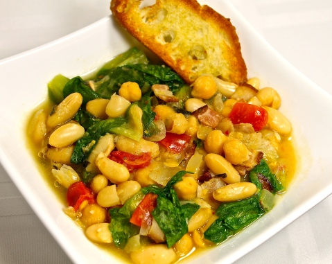 healthy beans and greens