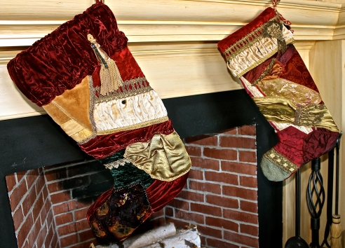 Stockings Made From Antique Fabrics
