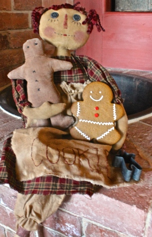 Cookie, A Reproduction Doll Was The Inspiration For The Gingerbread Men Cookies